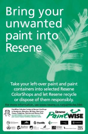 Resene commissioned hundreds of their Adshel posters to be recycled into notebooks by recycled.co.nz
