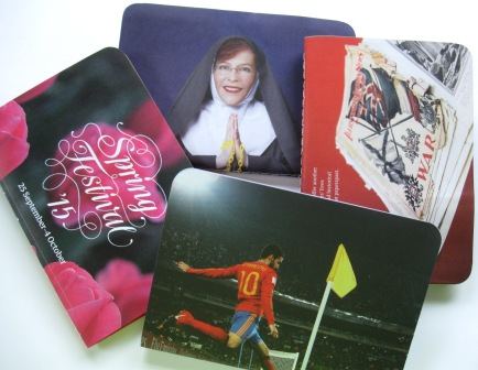Some in the range of sewn recycled notebooks made out of WCC brochures to thank the Mayor