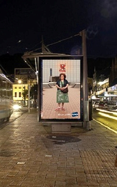 Fly Buys 'Dream a little' campaign posters recycled by recycled.co.nz