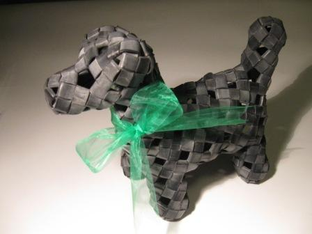 Recycled inner tube dogs as gifts by recycled.co.nz