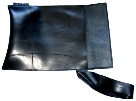 Recycled inner tube I-pad sleeve by recycled.co.nz