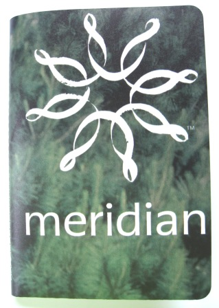 Recycled Adshel poster notebook kindly commissioned by Meridian Energy