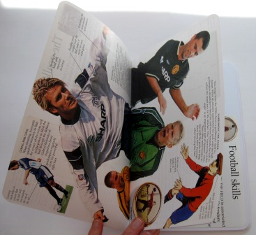 Inside view of the soccer themed notebooks