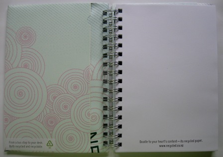 Inside view of the passport notebook