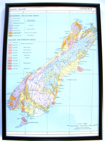 A 1950's map of New Zealand's geology