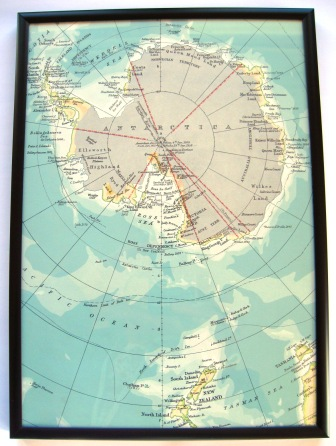 A 1950's map of Antartica