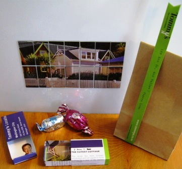 Re-using property ads to create memento gifts for vendors and buyers by recycled.co.nz