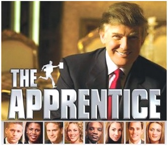 Image of Donald Trump and the contestants of his reality TV show 'The Apprentice'